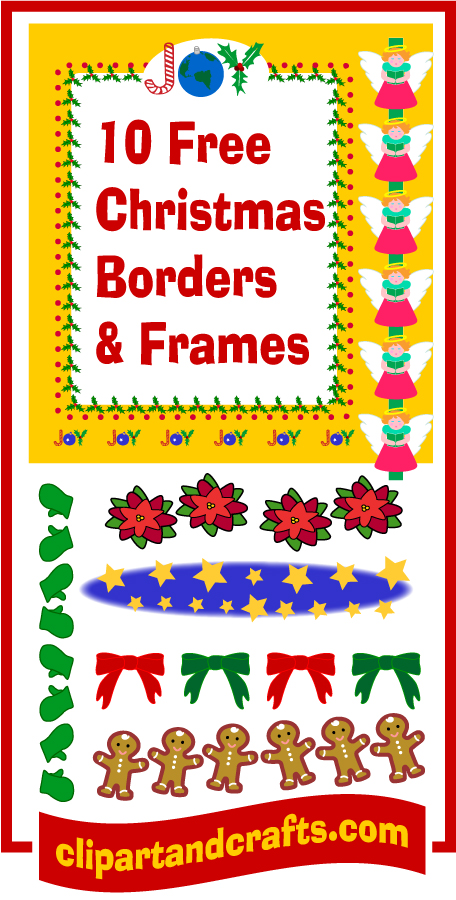 Christmas clip art borders and frames at clipartandcrafts.com
