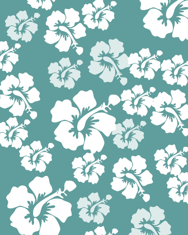 Tropical Teal Hibiscus Background Folding Paper
