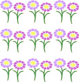 Flower border printable craft paper