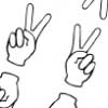 peace sign paper or clip art