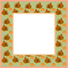 Thanksgiving scrapbook frame, turkeys and pumkins clip art graphic