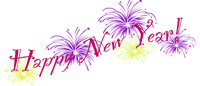 New Year Clip Art Fireworks Banner