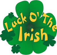 Luck o the irish clip art badge