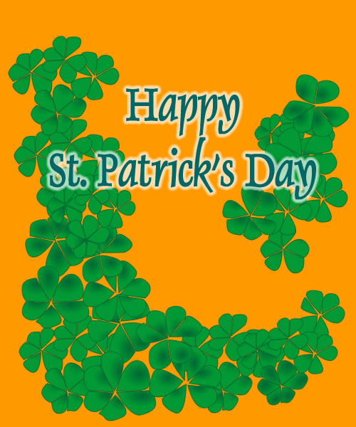 Click image to view a larger shamrocks poster graphic you can print or ...