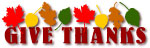 Give Thanks clip art banner