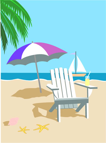 clipart beach scenes - photo #19