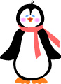 clip art penguin featured in iphone snowglobe app