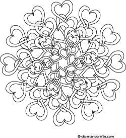 Tangled Love Mandala Design Coloring Page By Lee Hansen