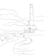 Adult coloring pages printable coloring pages for adults and artists lighthouse diy art sketch coloring page printable pronofoot35fo Images