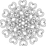 Tangled hearts mandala design