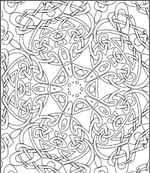 Celtic Kaleidoscope Coloring Page For Adults