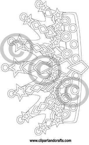 coloring pages crowns coloring