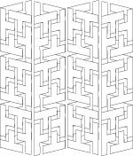 3d geometric coloring page printable at clipartandcraftscom