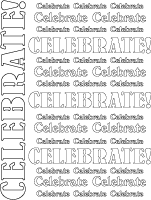 TE Bubble Letters Adult Coloring Page