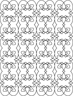 tricky coloiring page for adults fleur de lis abstract design