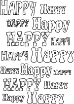 happy word art poster