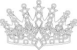 Crown With Jewels Drawing To Color