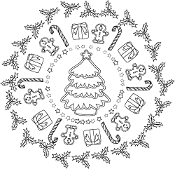 Christmas Mandala Vector & Photo (Free Trial) | Bigstock | 241x250