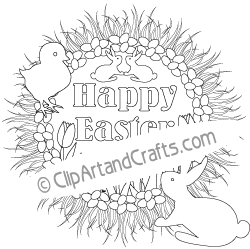Easter Wreath Coloring Pages - Red Ted Art - Make crafting with ...   249x250