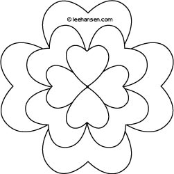 Shamrock Design Coloring Page