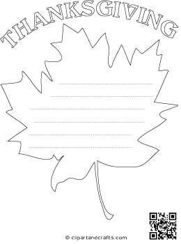 Maple Leaf Shape Paper With Lines for Writing Letters