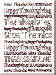 Thanksgiving give thanks subway art design coloring sheet printable, clipartandcrafts.com