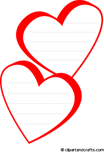 Search results for drawing border lines on a paper for Heart shaped writing template