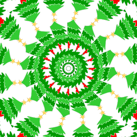Christmas tree mandala graphic craft paper