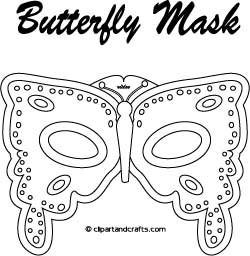 Butterfly Mask  Face Mask Templates Printable
