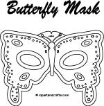 Butterfly mask adult design coloring page