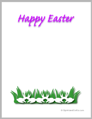 photo about Easter Stationery Printable identify Printable Easter Bunnies Border Paper