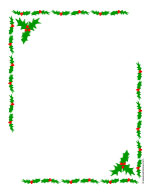 holly border poster paper