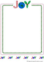 Joy Christmas frame border
