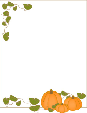 Print a sheet of Pumpkins and Vines Border Paper