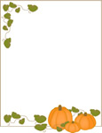 Pumpkin vines border frame pages