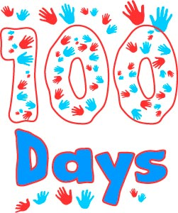 image regarding 100 Days Printable known as Printable Poster - 100 Times