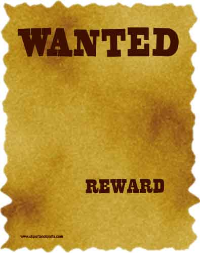 Blank Wanted Poster Printable Printable wanted poster