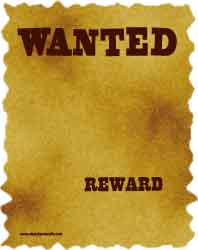 Wanted poster frame