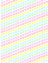 Heart rainbow stripes craft paper sheet