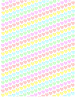 Hearts stripe printable craft paper