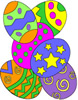 Easter eggs graphic, egg clip art