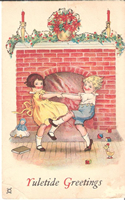 vintage christmas graphic