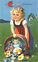vintage easter clip baby chicks