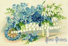 fond wishes forget me not flowers vintage clipart