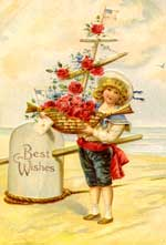 best wishes vintage clip art